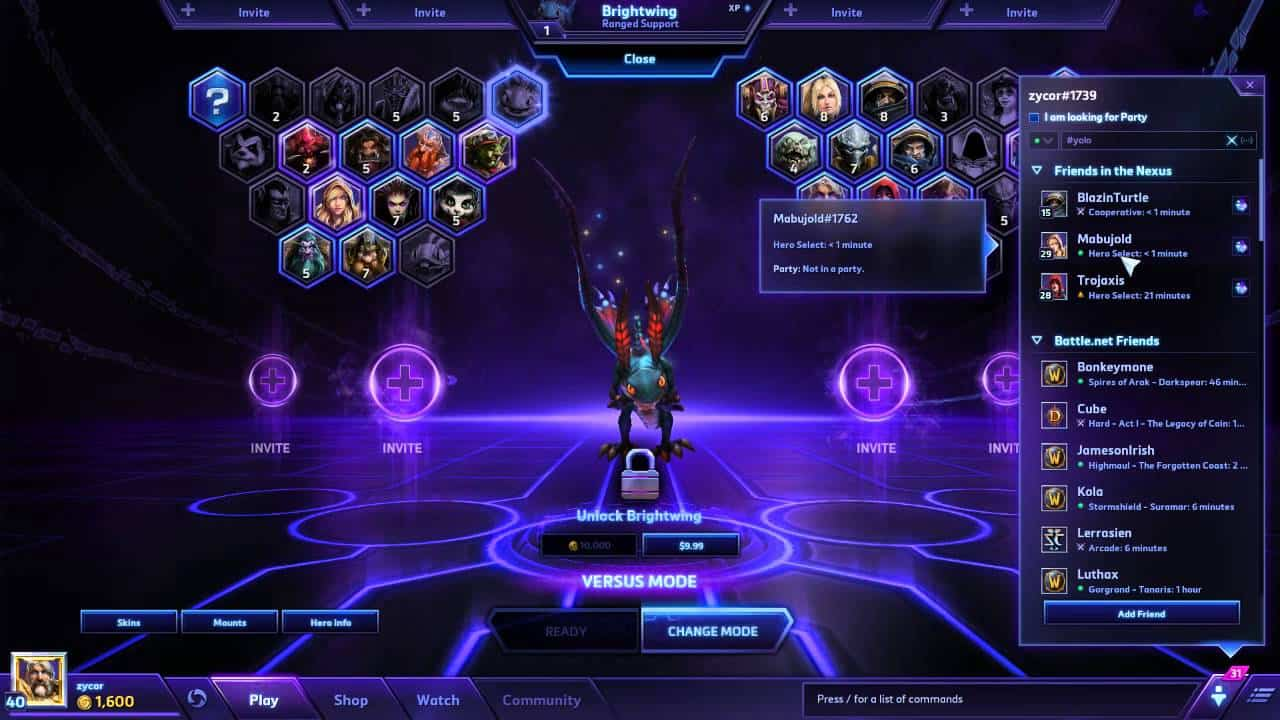 Heroes of the storm matchmaking problem
