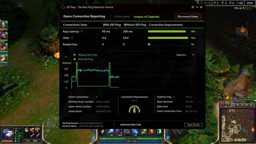 League of Legends Guide to Solve LoL Lag - Kill Ping