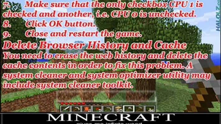 Here is a guide to fix Minecraft Lag On Windows 7 - Kill Ping