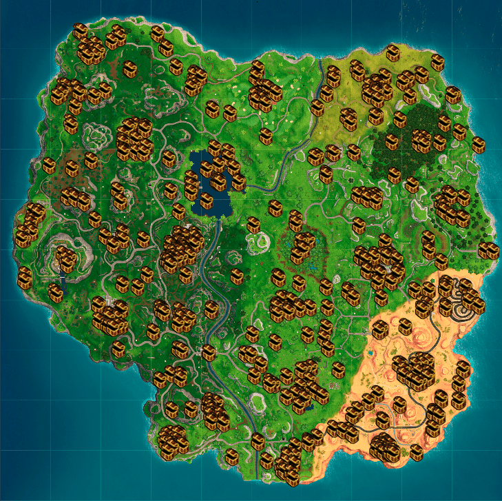Fortnite Map Guide Season 5 Loot Drop And More Locations Kill Ping