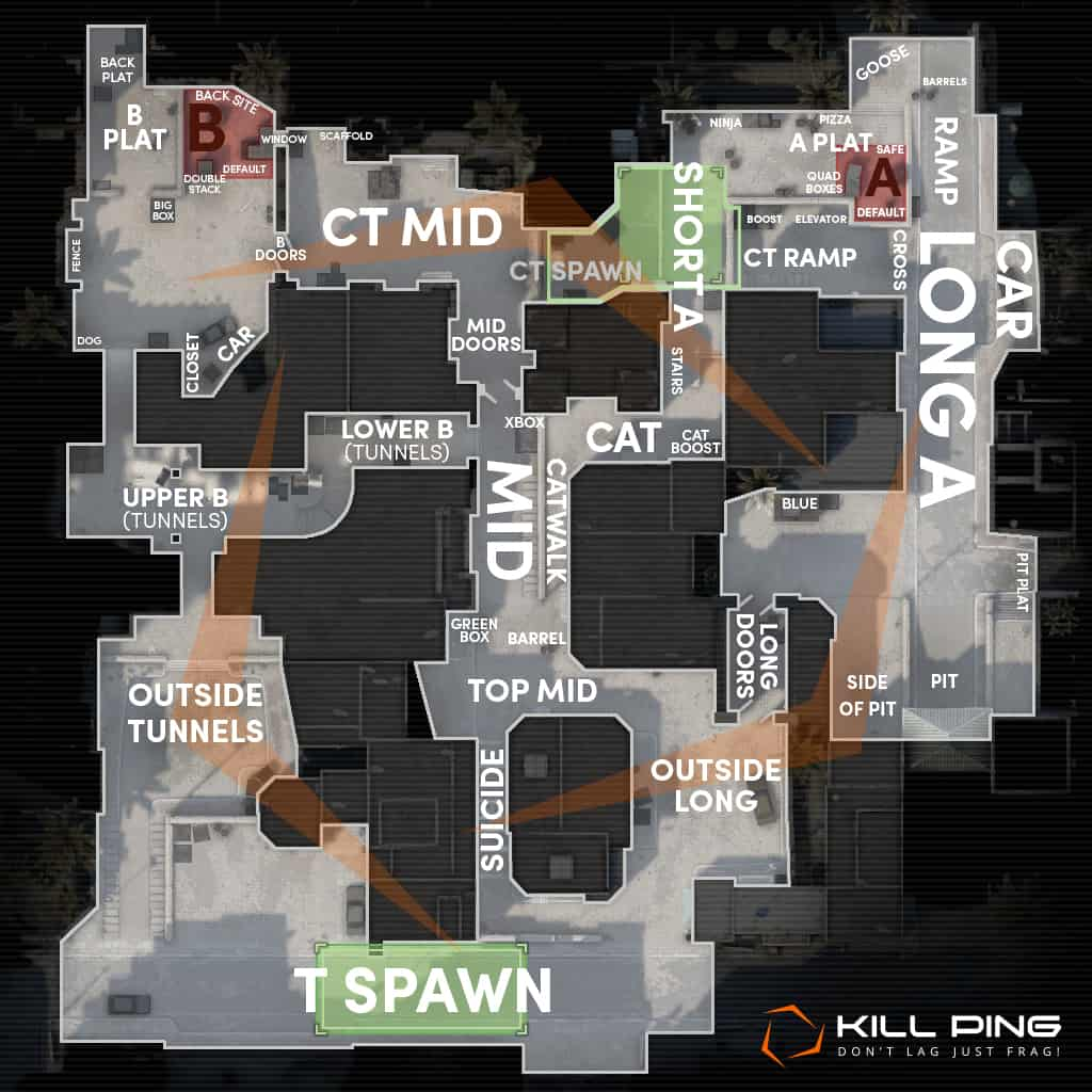 CS:GO Callouts for Active Duty Map Pool 2018 - Kill Ping